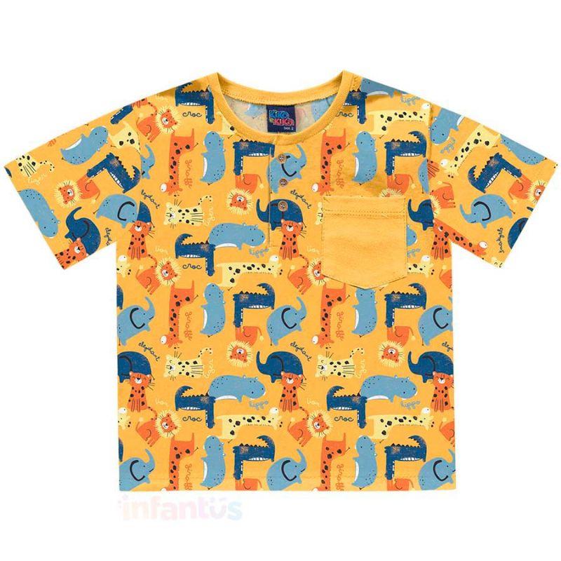 Camisa Safari Amarelo - Kiko e Kika