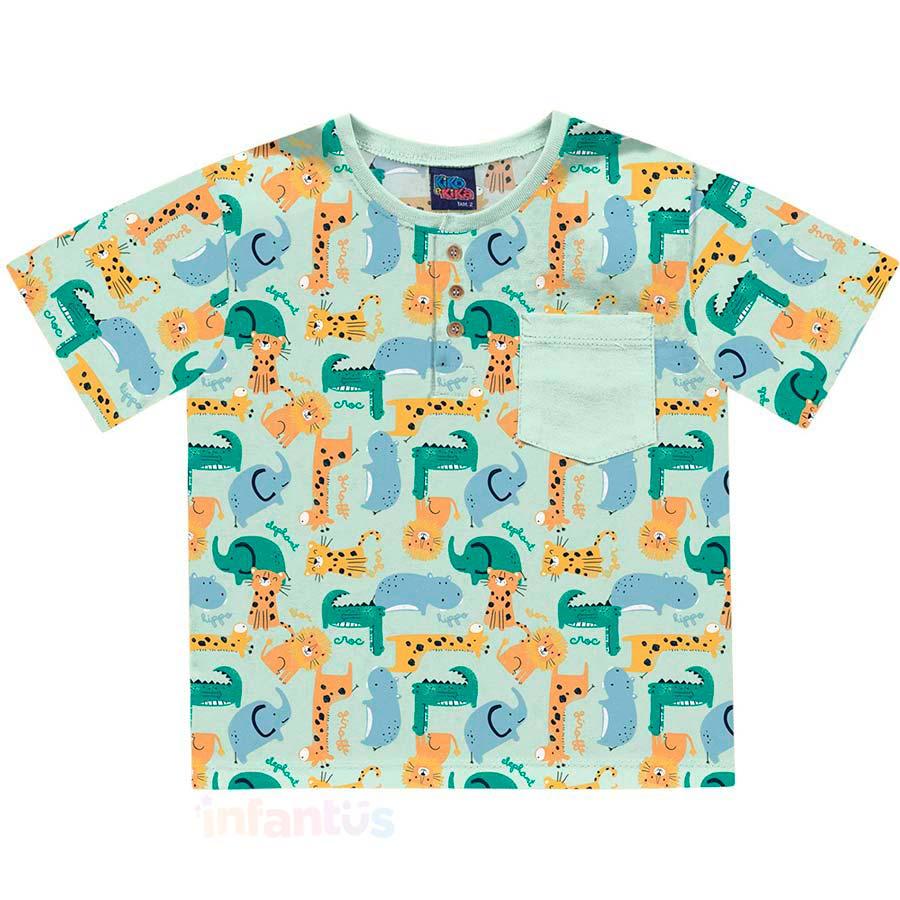 Camisa Safari Verde Claro - Kiko e Kika