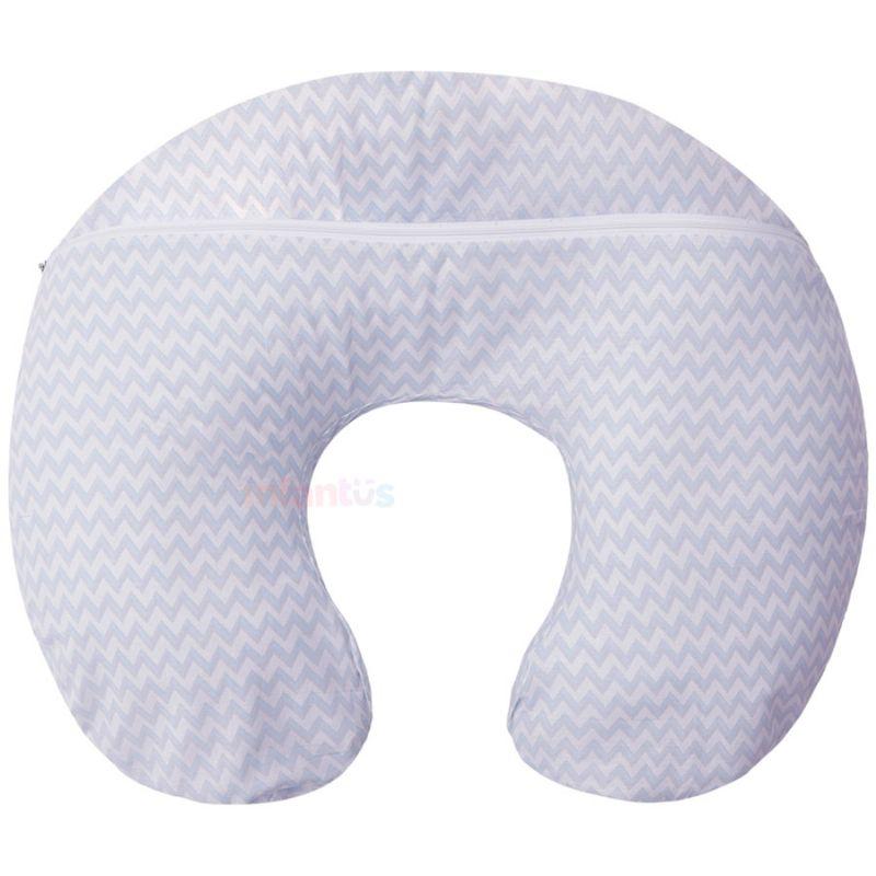 Capa para Almofada de Amamentação Listras Azul - Papi