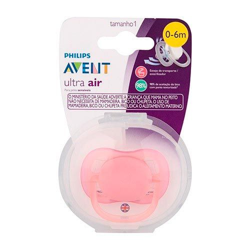 Chupeta Ultra Air Rosa 0 a 6m SCF445/10 - Philips Avent