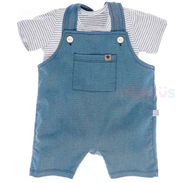 Conjunto Jardineira Listrado - Baby Gut
