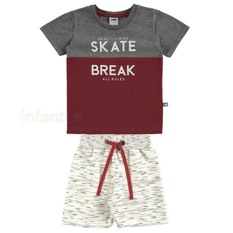 Conjunto Skate Break Cinza Escuro - Marlan