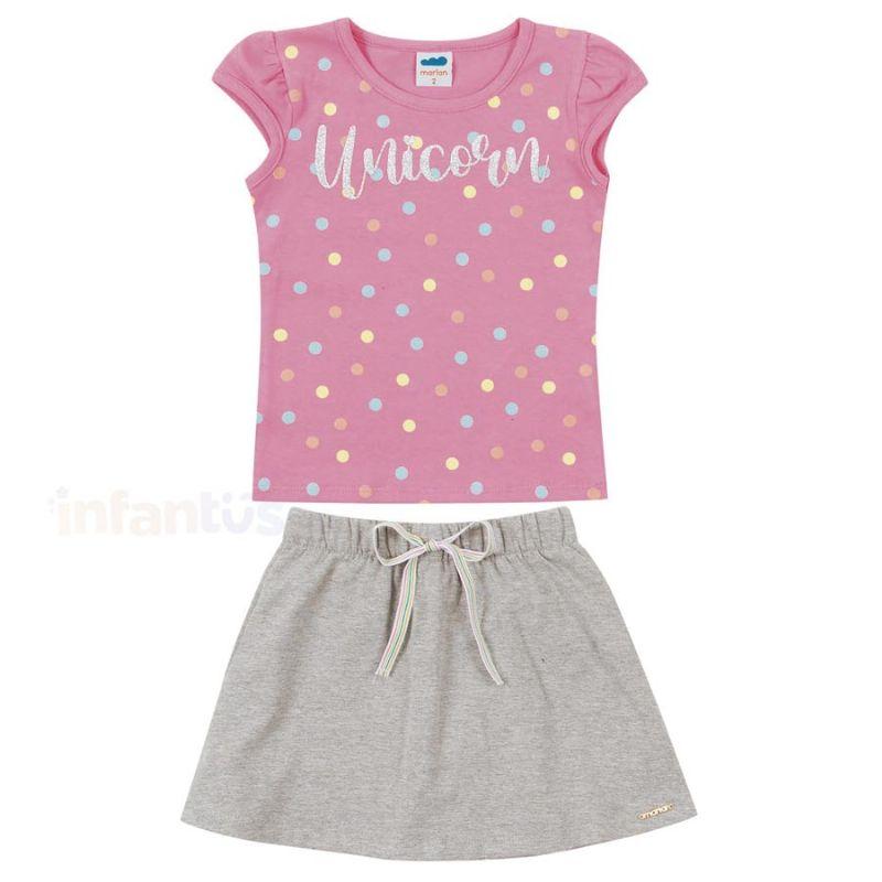 Conjunto Unicorn Rosa - Marlan