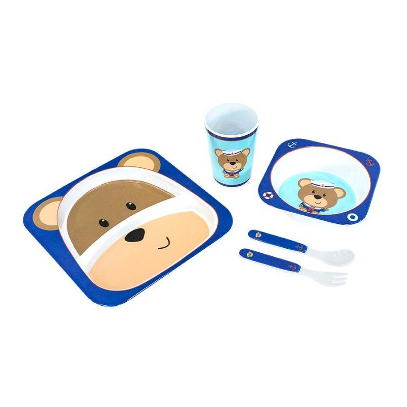 Kit Alimentação Turminha Animal Urso - Unik