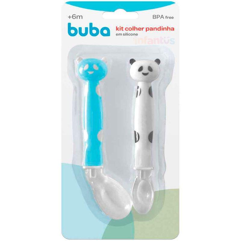 Kit Colher Panda Azul - Buba