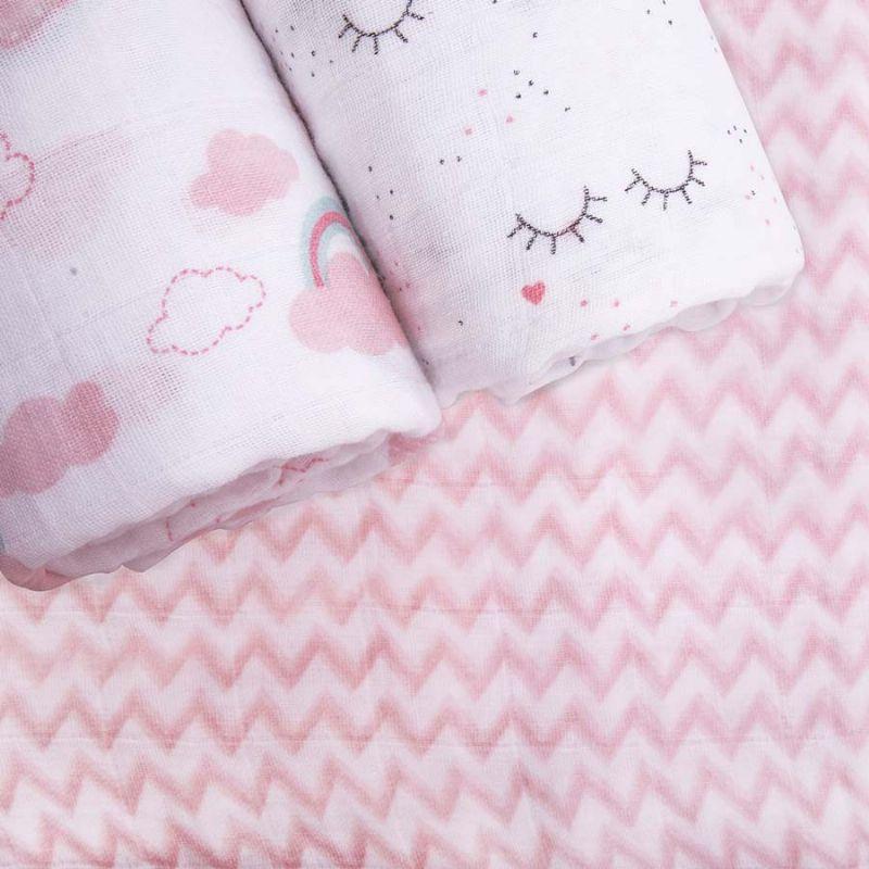 Kit Cueiro Soft Premium Rosa com 3 peças - Papi