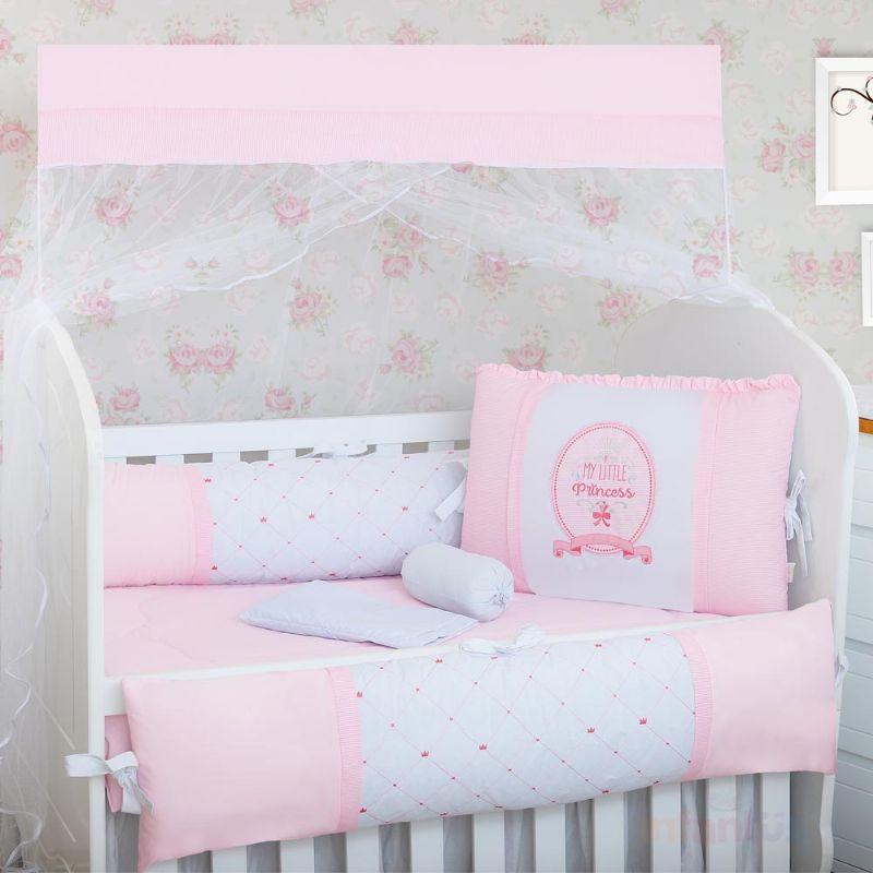 Kit de Berço Americano Little Princess Encanto Rosa 9 peças