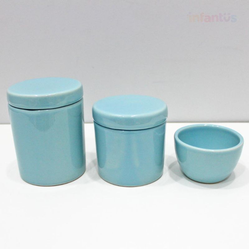 Kit Higiene Potes Azul Velho 3 Peças