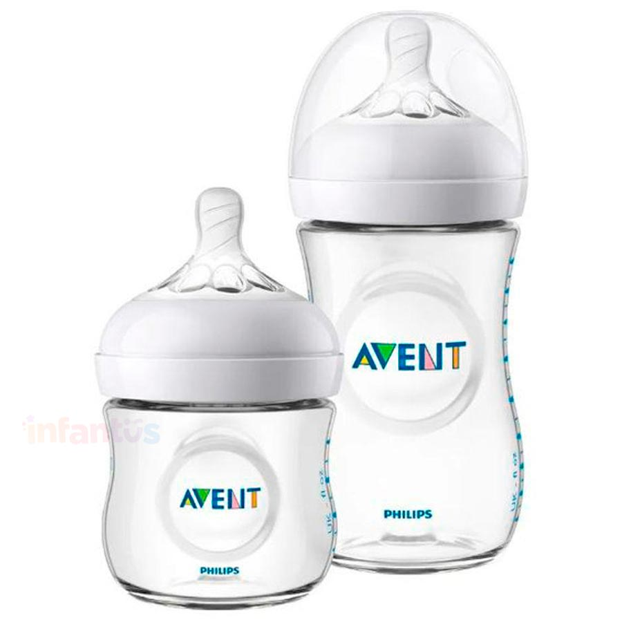 Kit Mamadeiras Pétala 125ml e 260ml SCD101/01 Transparente - Philips Avent
