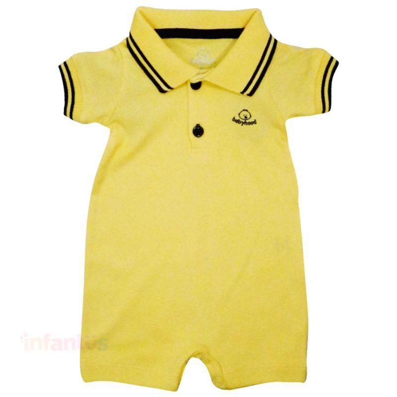 Macaquinho Polo Amarelo - Babyhood
