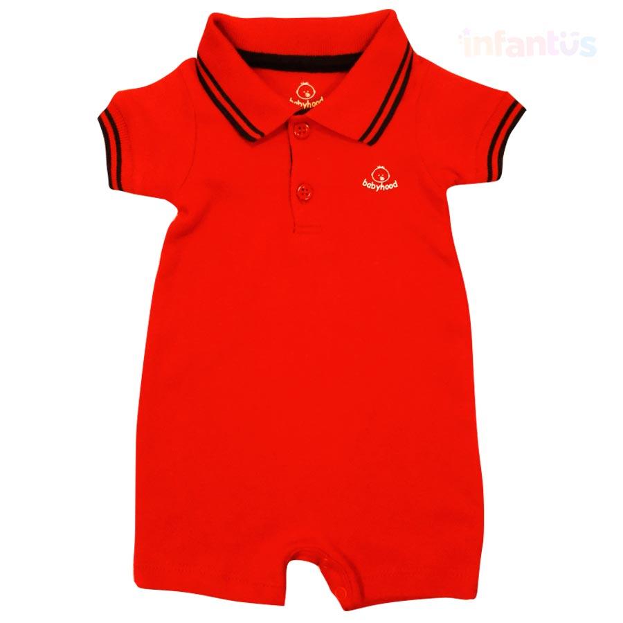 Macaquinho Polo Vermelho - Babyhood