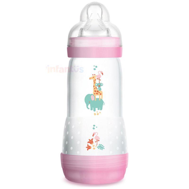 Mamadeira Easy Start Anticólica 4+ meses 320ml Rosa - MAM