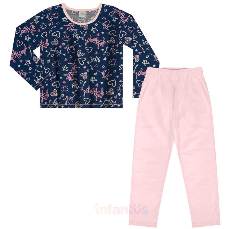 Pijama Girl Things Rosa - Rovitex