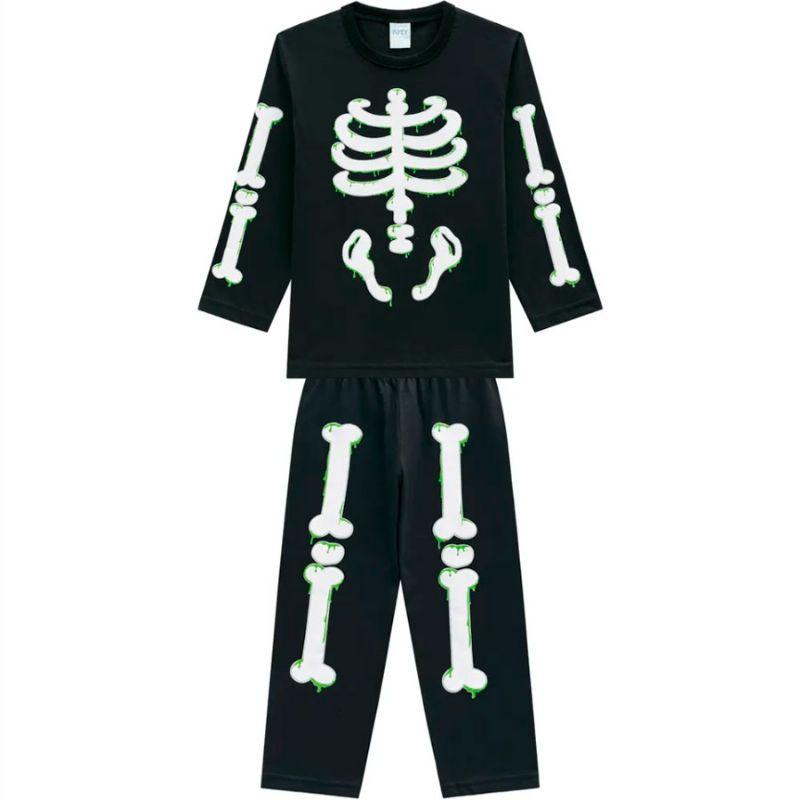 Pijama Infantil Menino Esqueleto - Kyly