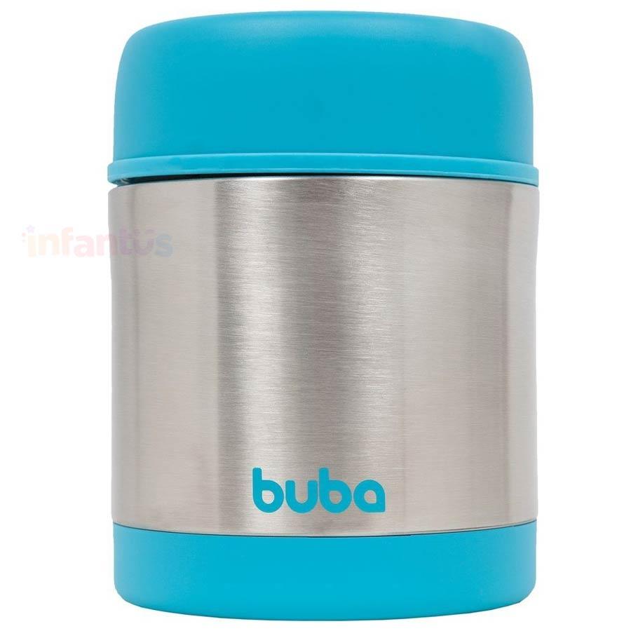 Pote Térmico Infantil Aço Inox Azul - Buba
