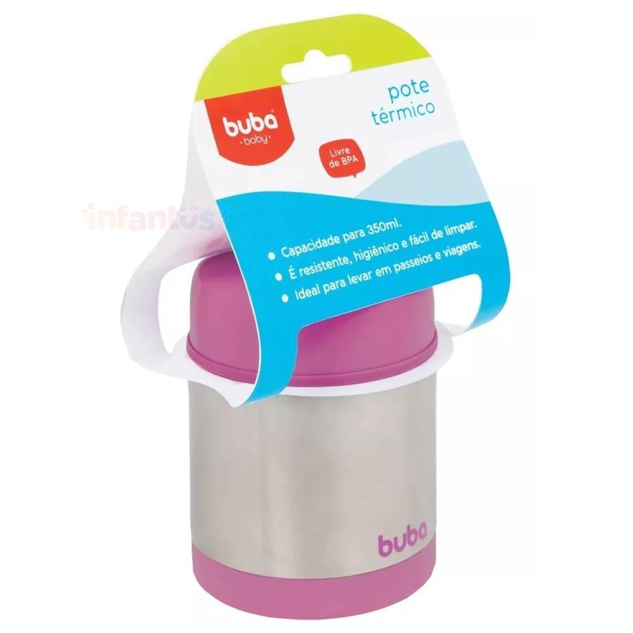 Pote Térmico Infantil Aço Inox Rosa - Buba
