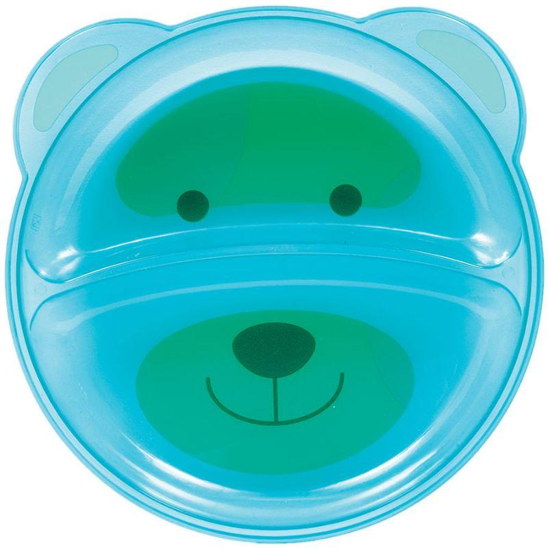 Prato Ursinho com Divisória Azul - Buba