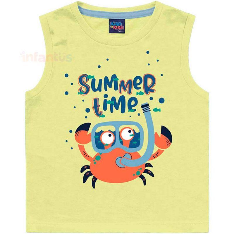 Regata Summer Time Amarelo - Kiko e Kika