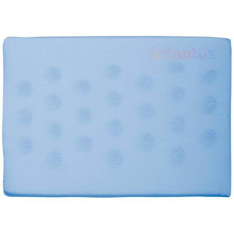 Travesseiro Antissufocante Azul Liso - Bercinho