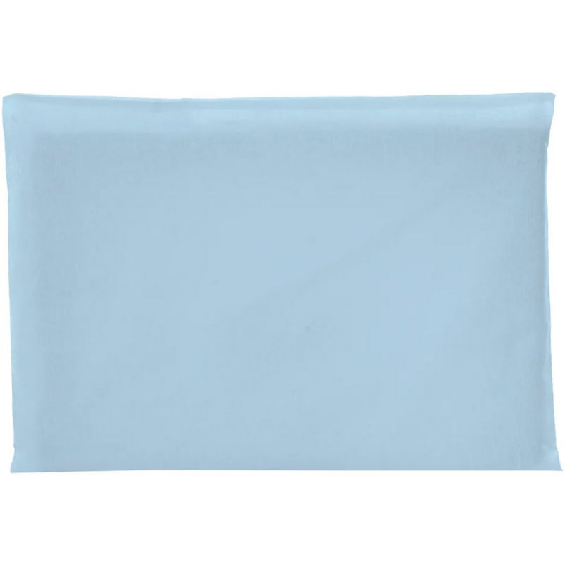Travesseiro Antissufocante Azul Claro Malha Liso 32x22x3cm - Bambi