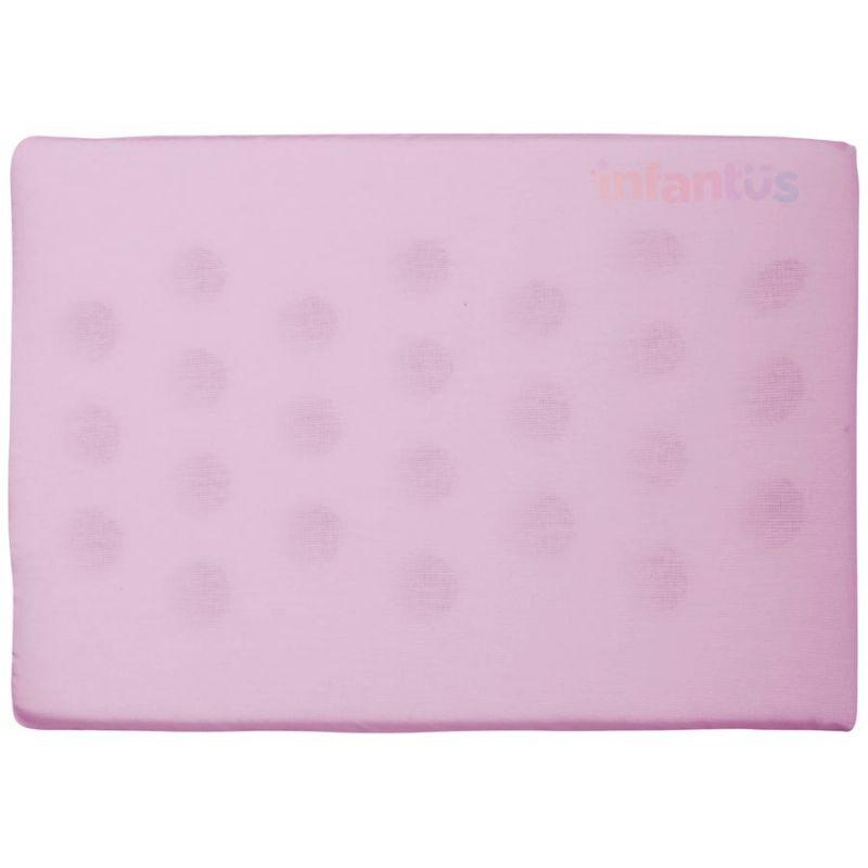 Travesseiro Antissufocante Rosa Liso - Bercinho