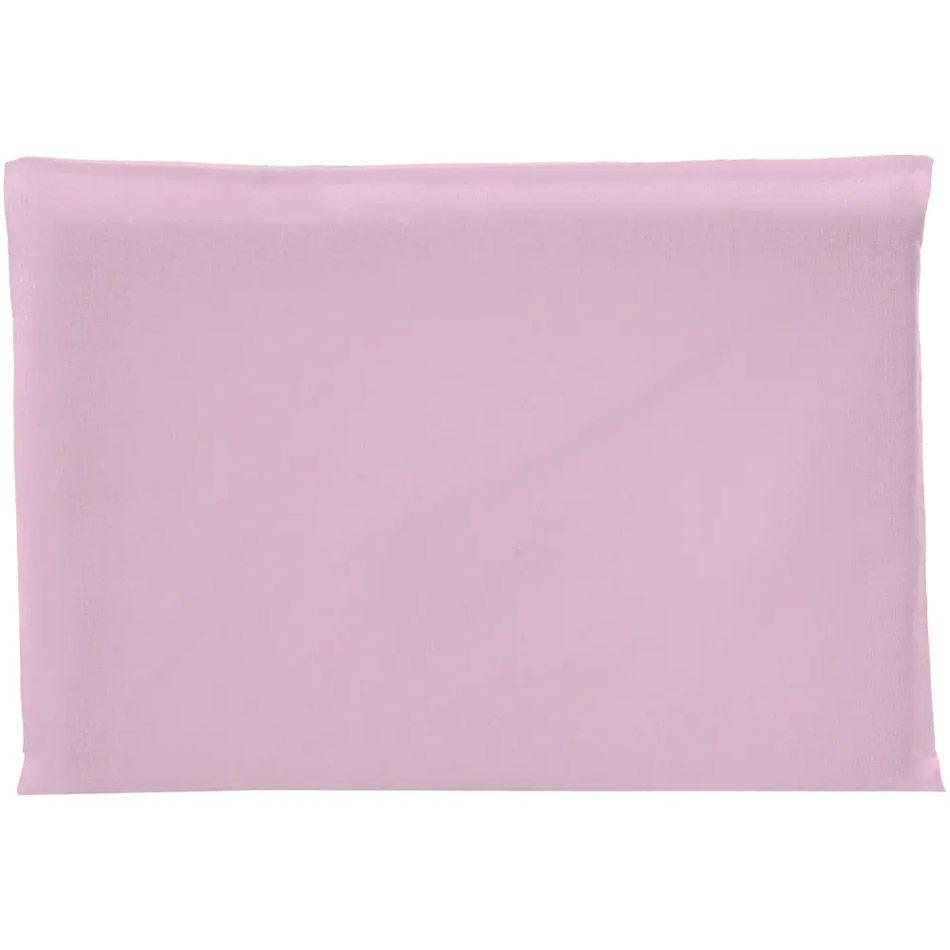 Travesseiro Antissufocante Rosa Malha Liso 32x22x3cm - Bambi