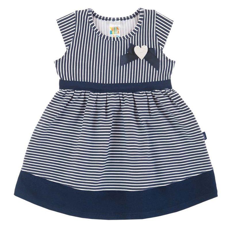 Vestido Bebê Listrado Marinho - Pulla Bulla