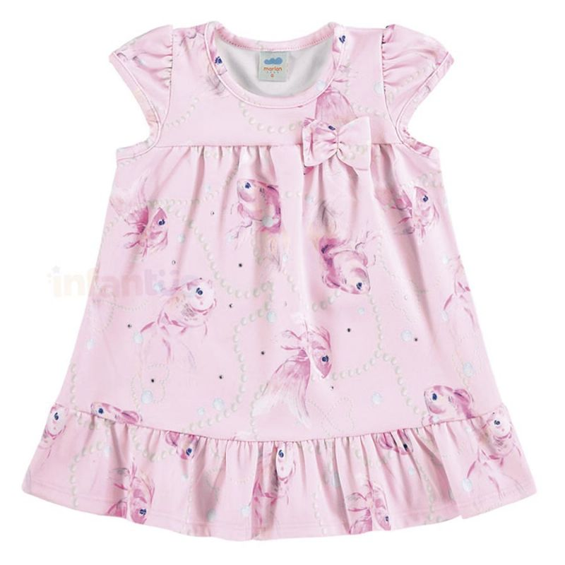 Vestido Bebê Peixe Rosa - Marlan