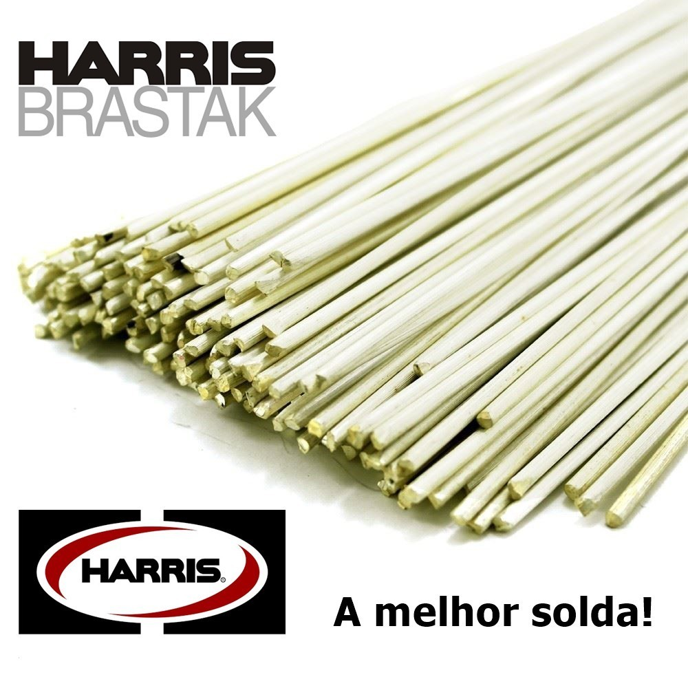 10 VARETAS DE SOLDA FOSCOPER BRASTAK HARRIS BT 470 2,40MM