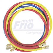 Conjunto Mangueiras 1,5 Metros Reforçada Manifold R12 R22 R134a R502