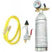 Garrafa Injetora Flushing Limpeza Refrigeração 141b Com Manômetro