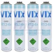 KIT 4 Gás Fluido Refrigerante R134A Lata 0,750kg