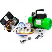 Kit Básico Para Refrigeração e Ar Condicionado (Bomba de Vácuo + Manifold)