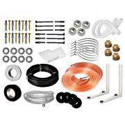 Kit Instalação de Ar Condicionado Split 7K e 9K BTUS Condensadora Redonda/Barril - 2 metros (Suporte 450MM)