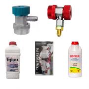 Kit Óleos para R134 e R22 + Egates Rápidos Automotivos + Tapa fugas Refrigeração