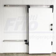 Porta de Correr Com Abertura Para o Lado Esquerdo Para Câmara Frigorífica De Congelados 1,80 X 0,80 M