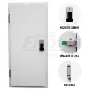 Porta Giratória Com Fechadura Com Chave Abertura Para a Esquerda Para Câmara Fria de Congelados Com 3 Batentes 2,00 X 1,00 M