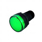 SINALEIRO LED VERDE 220V 22MM AD16-22DG Jng