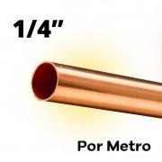 Tubo Cano Cobre 1/4 Flexível Por Metro