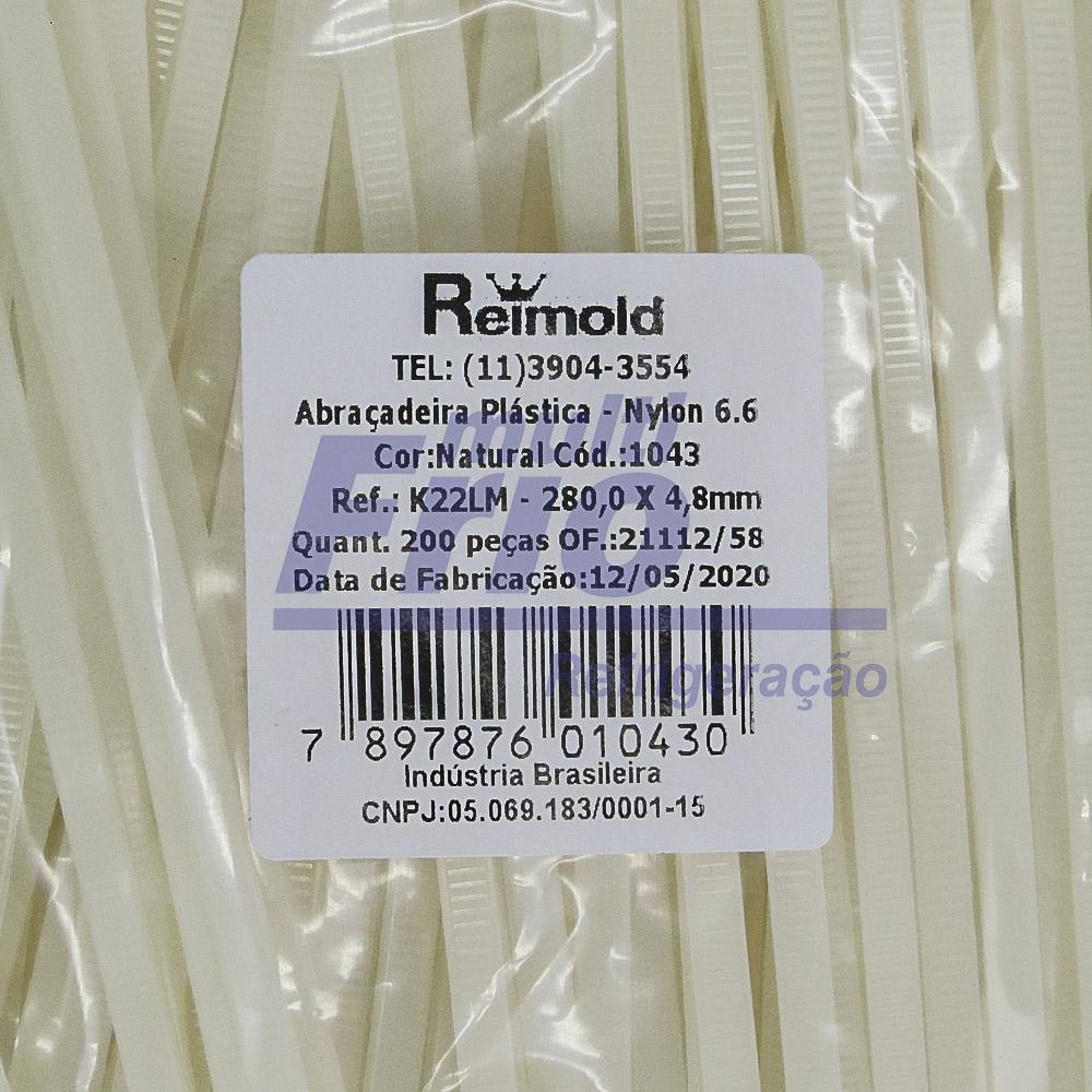 Abraçadeira Nylon 280mm Branca 200 peças