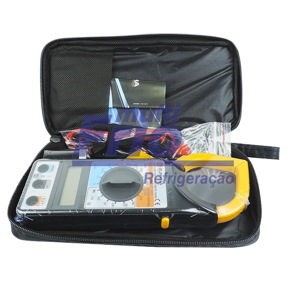 Alicate Amperímetro E Multímetro Digital Suryha 1000 Ampères