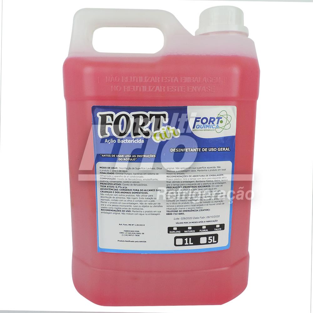 Bactericida Aromatizante Fort Air Limpeza Ar Condicionado 5L