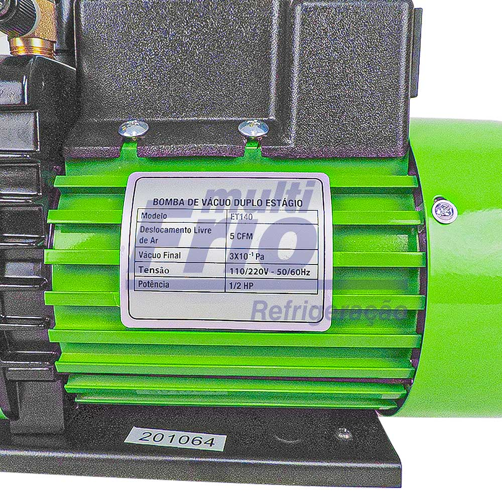 Bomba de Vácuo 5 CFM 127V/220V duplo estagio Ecotools + Óleo Mineral Iso Vg 46 1 Litro