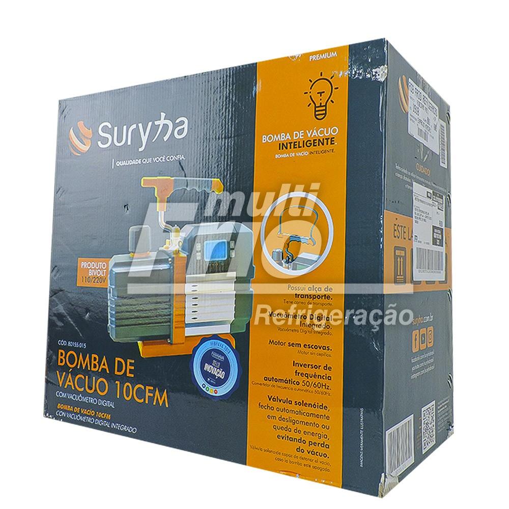 Bomba Vácuo 10 CFM 220V/110V Com Vacuômetro Digital Suryha 80155015