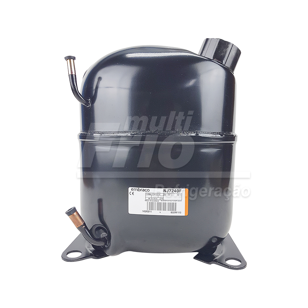 Compressor Aspera Embraco 1.5HP NJ7240F 220V Monofásico R22 Média