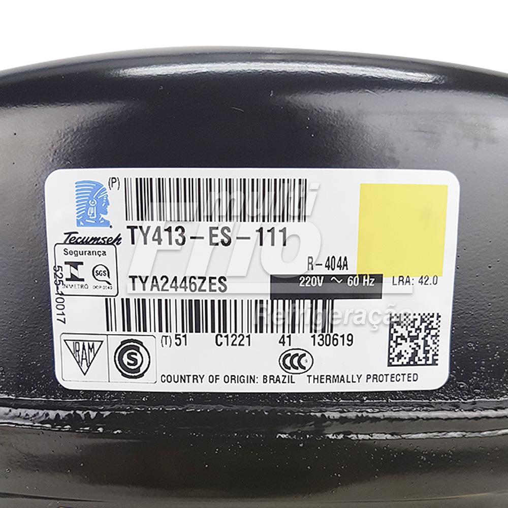 Compressor Lunite Tecumseh TYA2446ZES 1,5 HP Monofásico 220v R404 Baixa