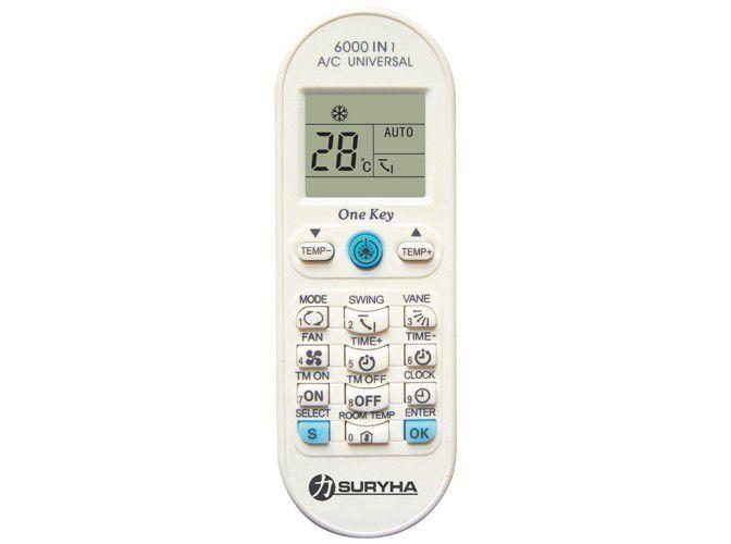 Controle Remoto Para Ar Condicionado Universal Premium Suryha