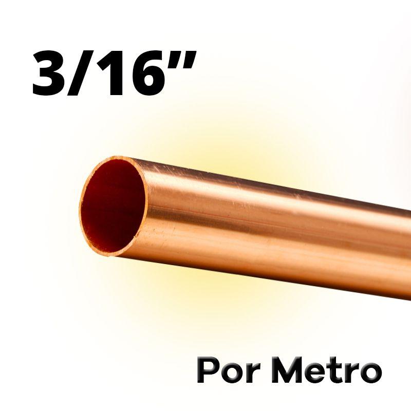 Tubo Cano Cobre 3/16 Flexível Por Metro
