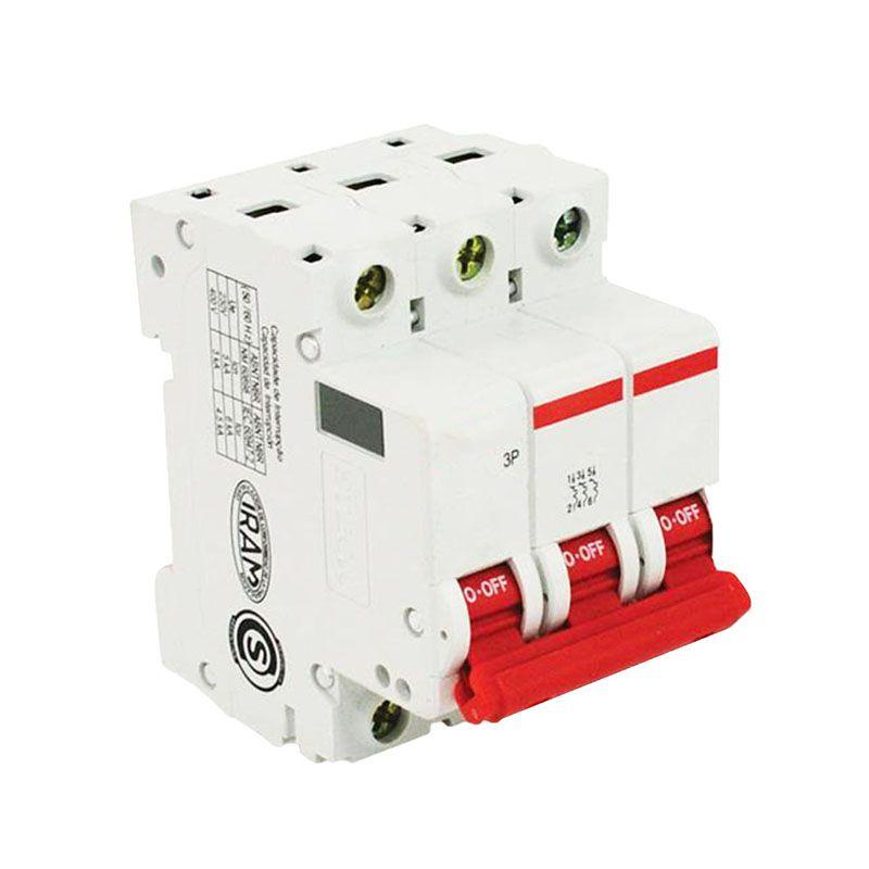 Disjuntor Tripolar 10A SDD63C10