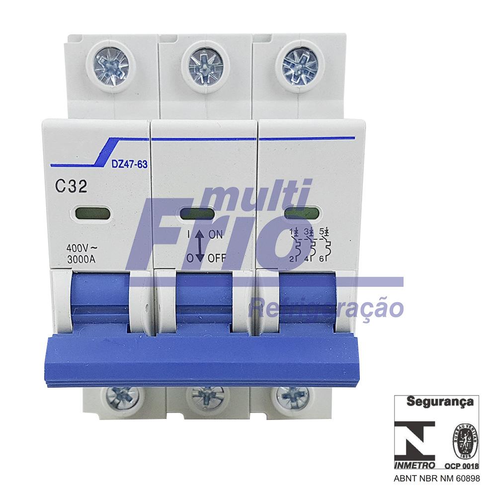 Disjuntor Tripolar 32 Amperes